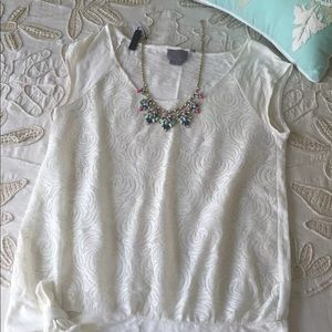 Anthropologie Vanessa Virginia M lace blouse tee